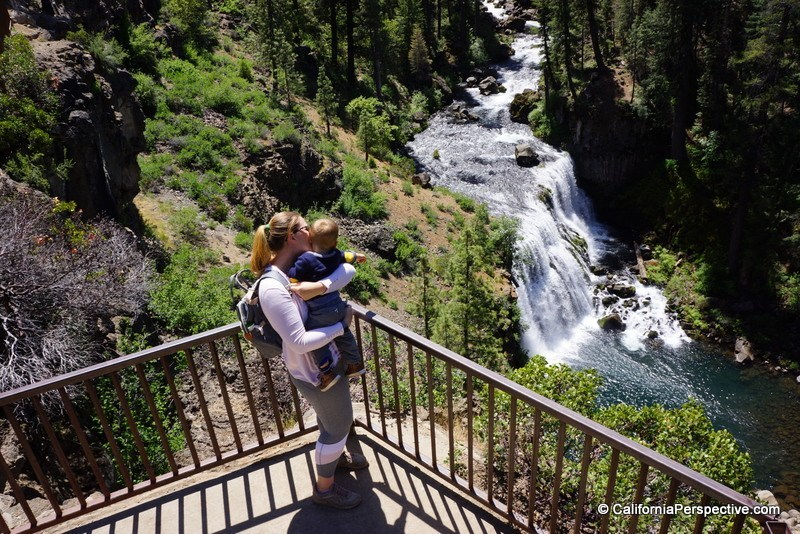 Middle-McCloud-Falls-Shasta-Trinity-National-Forest-with-kids